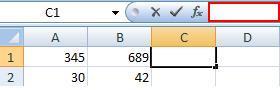 Строка для записи формул