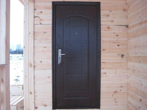 Как установить <b>дверь</b> в деревянном <strong>доме</strong>