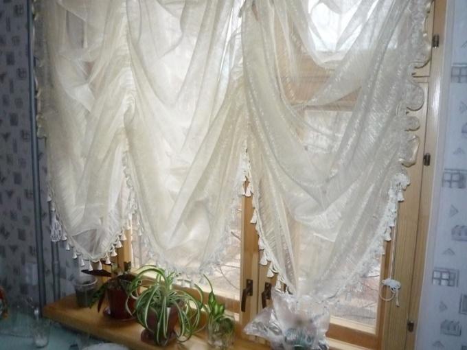Как сшить шторы из тюля видео