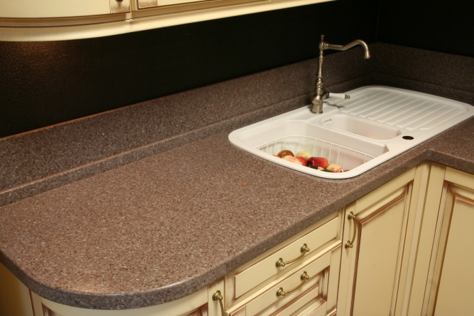 How to install the sink in the countertop