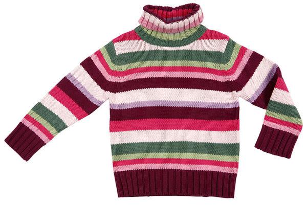 Как связать воротник на свитер.