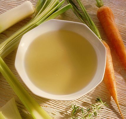 How to strain the broth