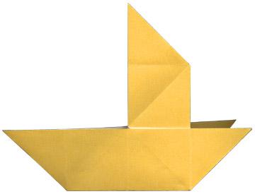Как сделать из бумаги парусник