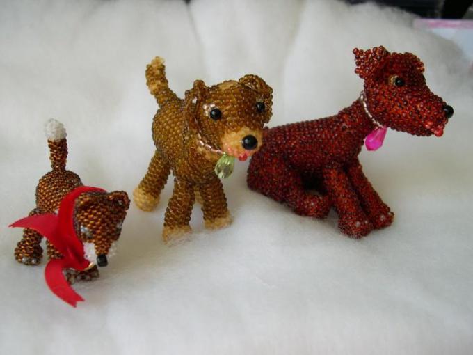 Как сделать игрушки из бисера