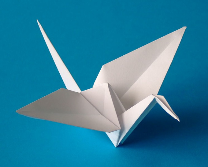 Журавль-оригами