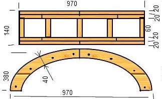 Как сделать деревянные арки
