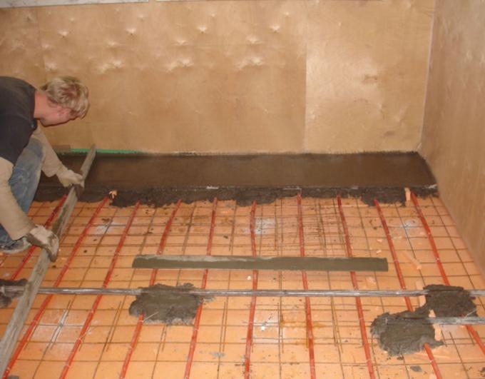 Как сделать бетонный пол самому