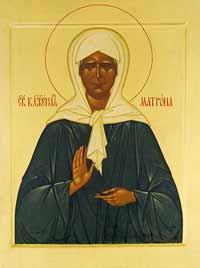 Образ святой  Матроны Московской
