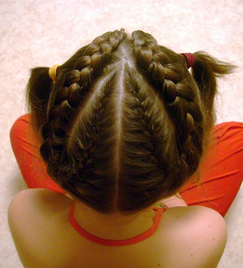 How to make pigtails all over your head by yourself