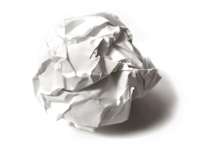 Как разгладить бумагу