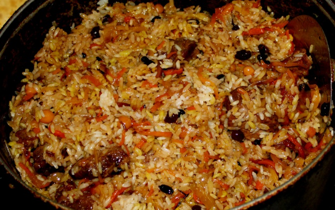 How to cook pilaf with meat