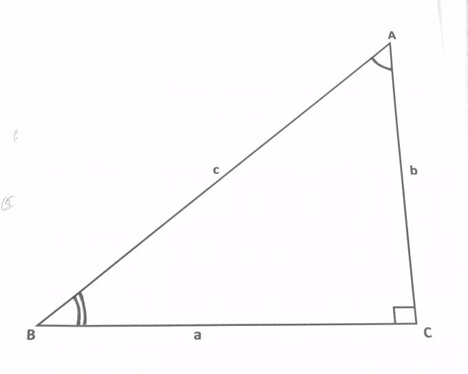 Катет - это сторона прямоугольного треугольника, лежащая напротив острого угла