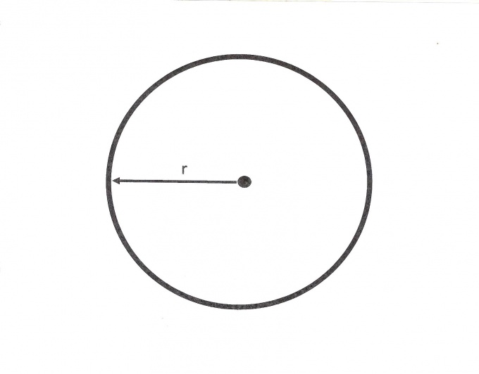 Knowing the radius, you can calculate the circumference