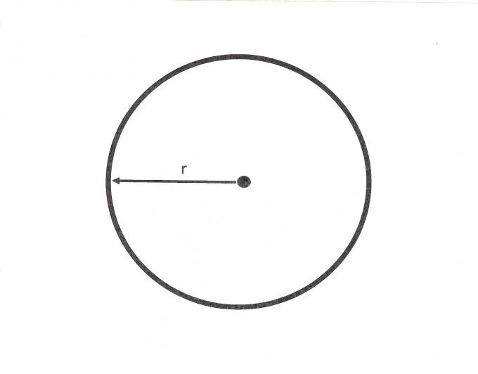 Зная радиус, вы легко сможете вычислить окружность