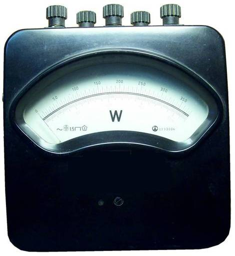 A device for measuring power - wattmeter