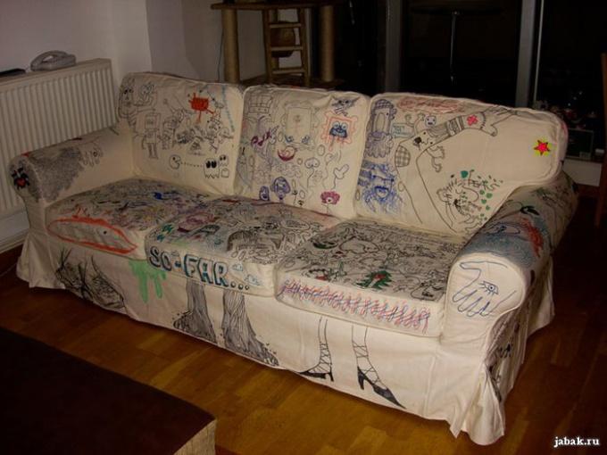 белоснежный диван не узнать
