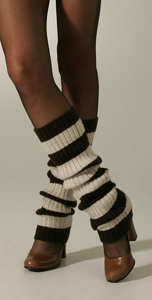 Гетры поверх туфель - модный тренд