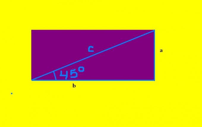 Как найти <strong>стороны</strong> <b>прямоугольника</b>, если известна <em>диагональ</em>