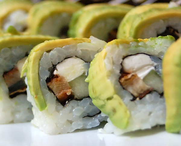 Roll - sushi, which is played on a Mat