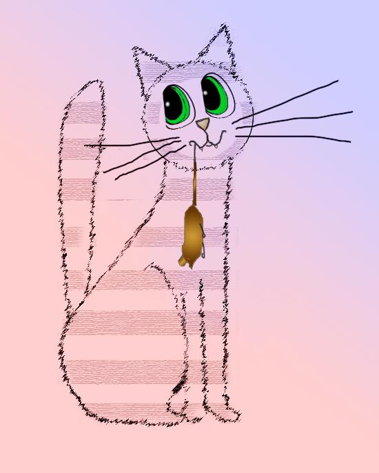 Как научиться рисовать <strong>кота</strong>