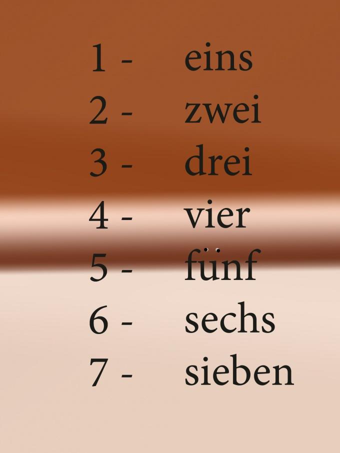Как считать по-немецки