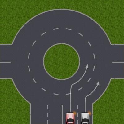 Как проезжать <b>перекрёстки</b> с круговым <strong>движением</strong>