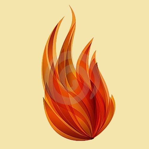 Как нарисовать огонь на <b>бумаге</b>