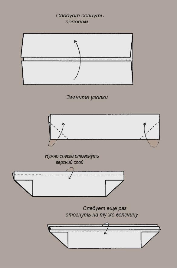 Как сложить бумажный кораблик