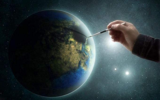 Как нарисовать планету земля