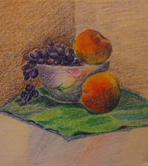 Как рисовать масляной пастелью