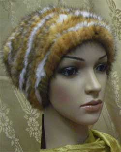How to knit a hat made of mink