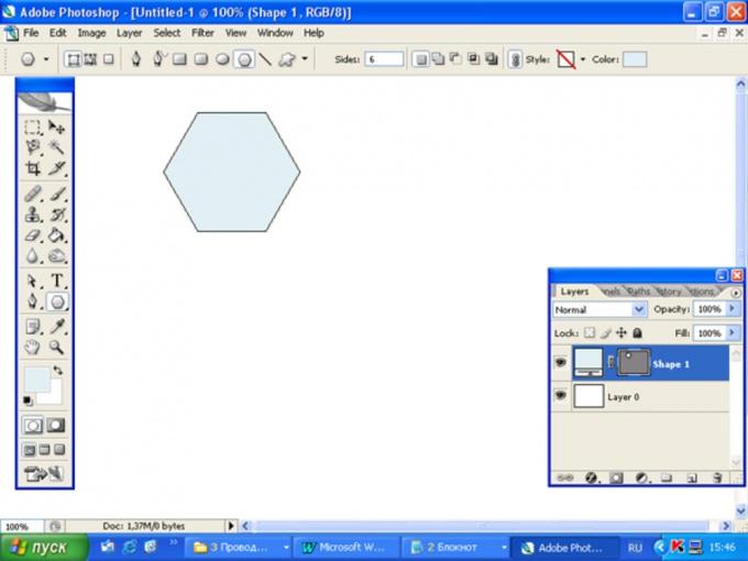 Как нарисовать <strong>шестигранник</strong>