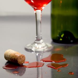 How to clean wine stains