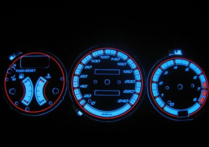 Как сделать панель приборов на автомобиль