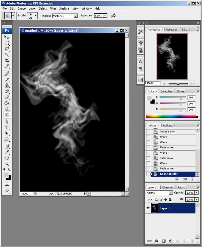 Как нарисовать <strong>дым</strong> в Фотошопе