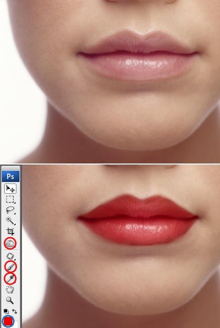 Красим губы
