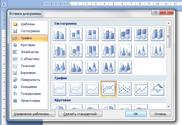 How to draw chart in word