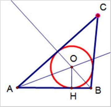 Окружность, вписанная в треугольник АВС