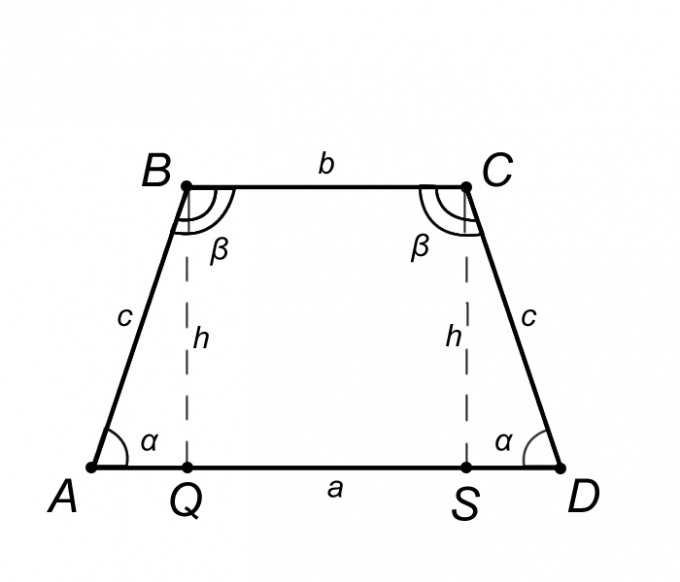 How to find the height of an isosceles trapezoid