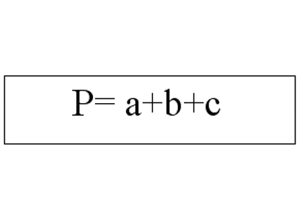 Формула периметра треугольника