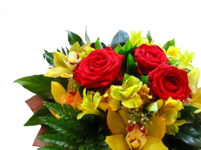 Букет цветов требует ежедневного ухода