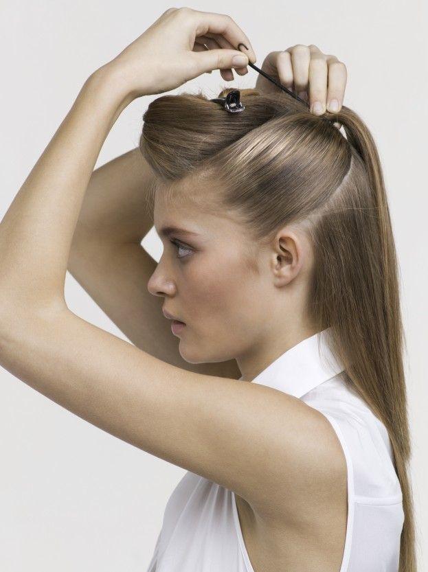 Как заколоть волосы средней длины