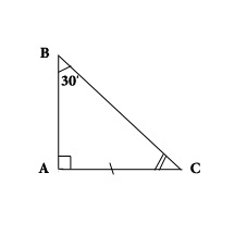 Прямоугольный треугольник - теорема 1.