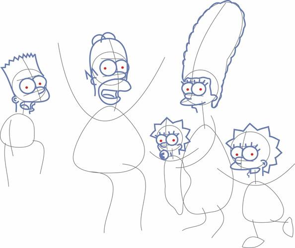 Как рисовать <strong>Симпсонов</strong>. Шаг 4.