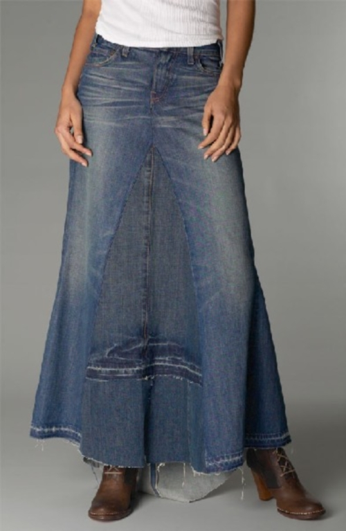 How to alter jeans skirt