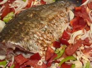 Whole baked fish is a great dish for the holiday table.