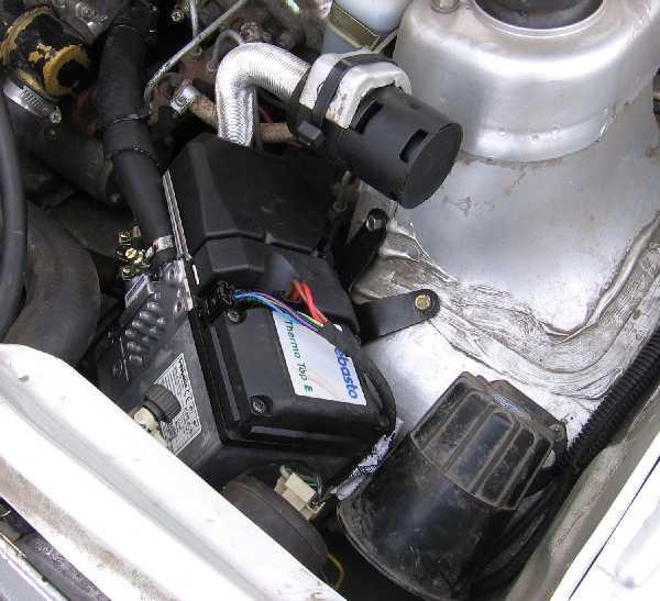 Как установить подогреватель двигателя