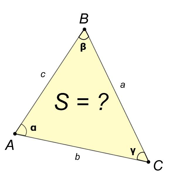 Как определить площадь треугольника