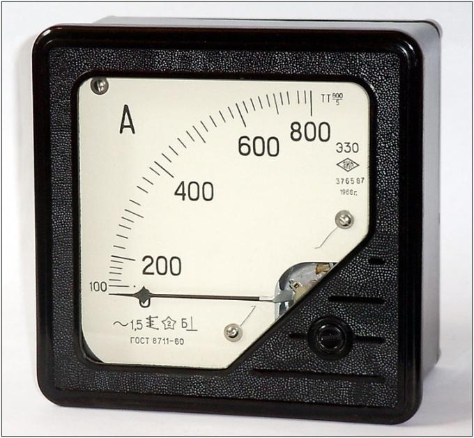 Амперметр - прибор для измерения силы тока.