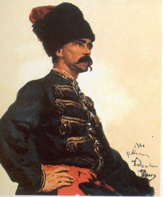 И.Е. Репин «Этюд казака»